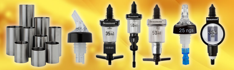 Buy spirit measures, jiggers and bar optic dispensers for UK delivery