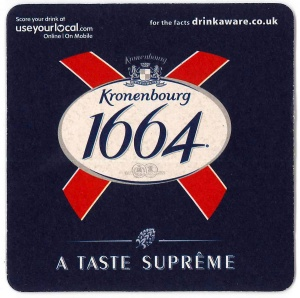 Kronenbourg Drip Mat (Pack of 100)