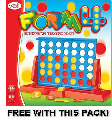 Free Form 4 game with this pack!