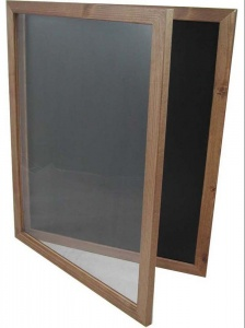 Hinged Chalkboard Poster Holder