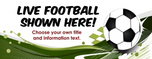 Live Football Banner