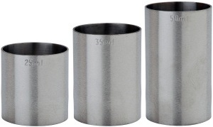 Spirit Thimble Measure Set - Spirit Measuring Cups CE Marked Next Day Delivery