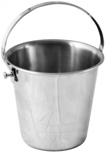 Stainless Steel Strip Handle Bucket