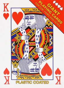 Giant A4 Playing Cards