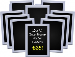 A4 Snap Frames (Pack of 10)