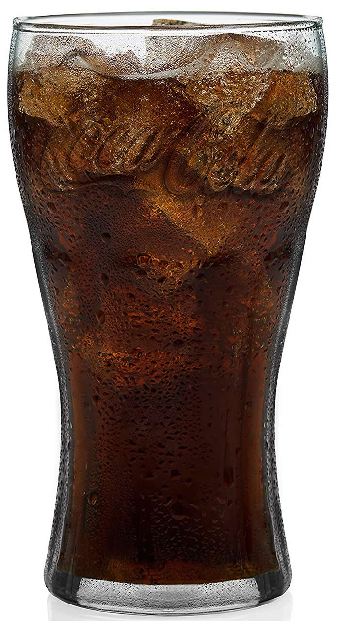 Georgian Green Coca Cola Glass 23oz