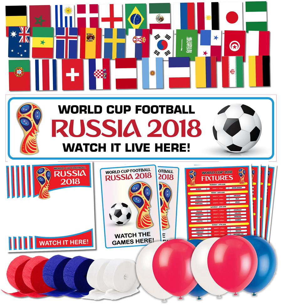 World cup 2018 bar decoration pack russia 2018 for Decoration 2018