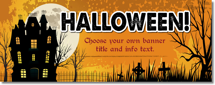 Halloween Event Pvc Banner - PRICE DROP!