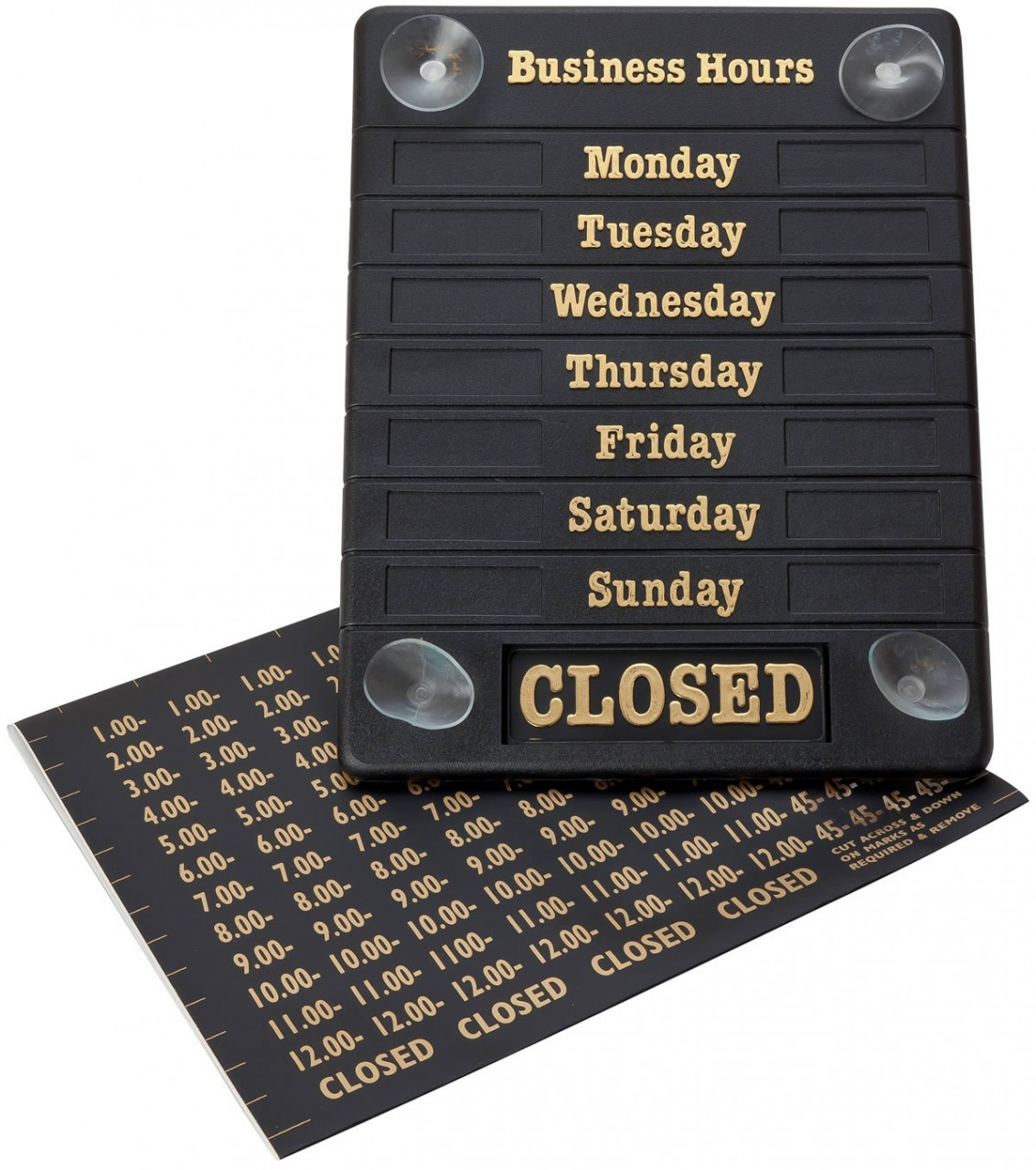 Business Opening Hours Sign Set