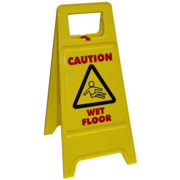 caution wet floor sign freestanding. Black Bedroom Furniture Sets. Home Design Ideas