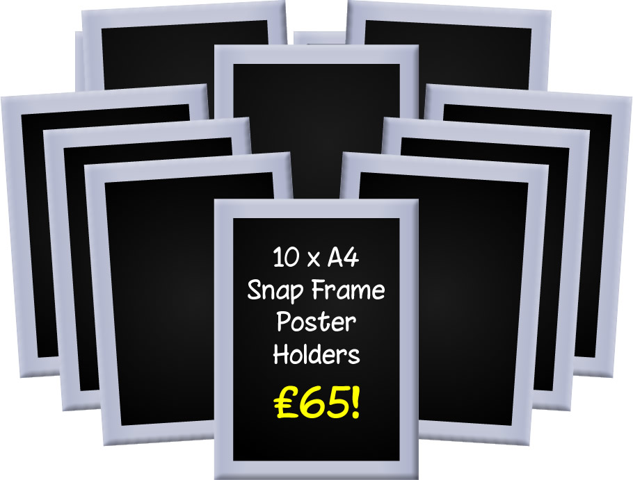 A4 Snap Frames - Pack of 6