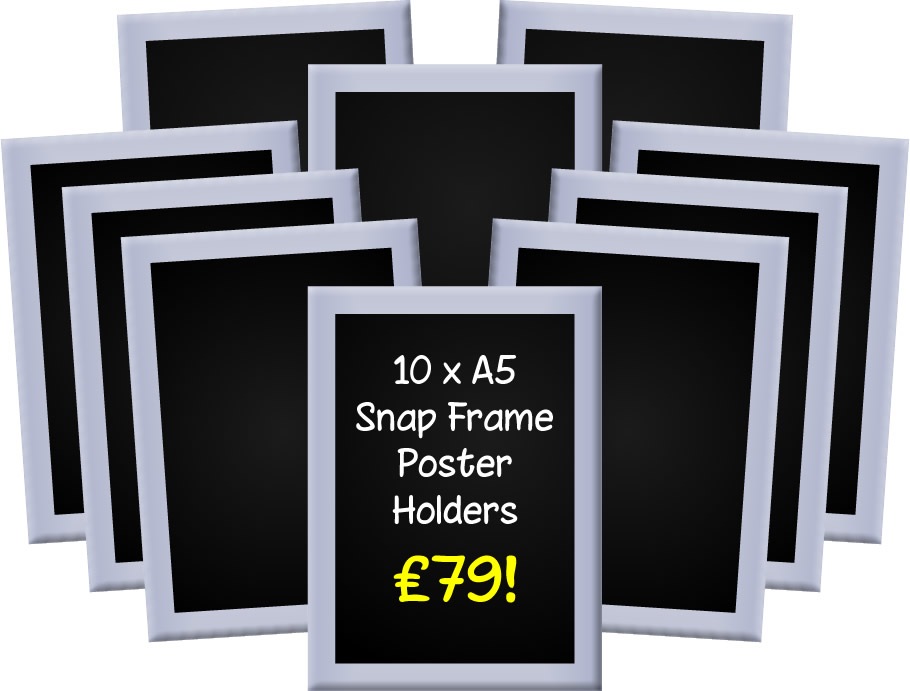 A5 Snap Frames - Pack of 6