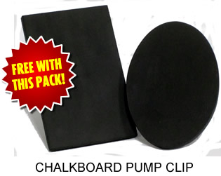 Free Chalkboard Pump Clip with this pack!