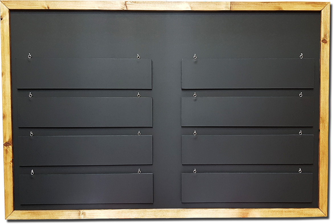 Changing Display Menu Board With Removable Slats A0