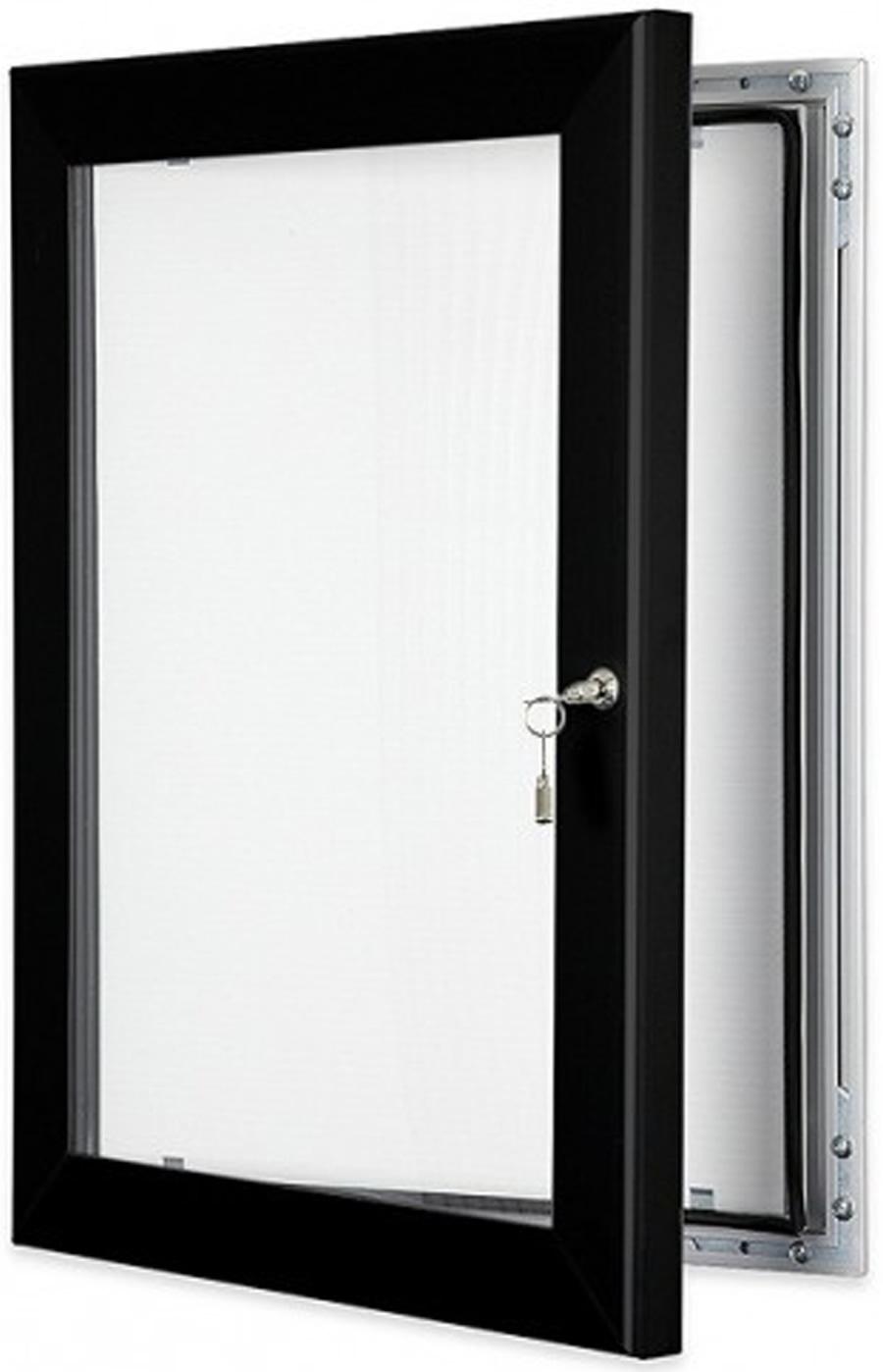 Locking poster display case black for Exterior display case