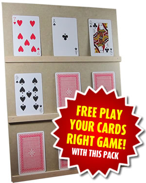 Free Play Your Cards Right game with this pack!