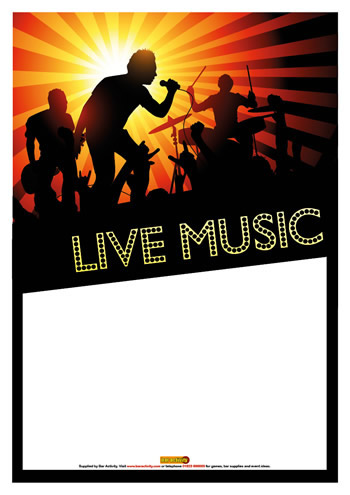 Live Music Posters
