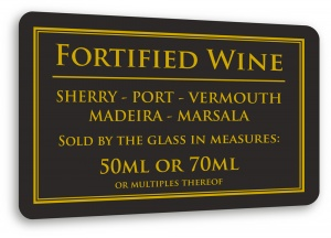 Fortified Wine Sign