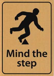 Mind The Step Sign - A4