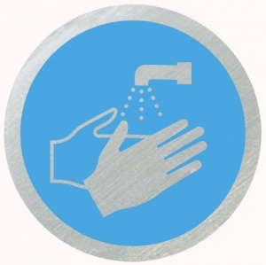 Wash Hands Disc Sign