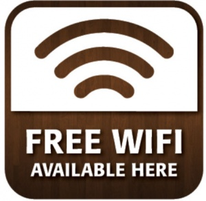 Free Wi-Fi Window Sticker