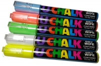 U-Chalk Dry Wipe Pens (Colours) 5 Pack