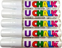 U-Chalk Large Wet Wipe Pens (White) 5 Pack