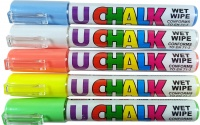 U-Chalk Wet Wipe Pens (Colours) 5 Pack