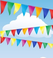 Multi Coloured Bunting (10m)