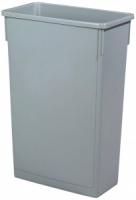 Grey Slim Recycling Bin - 87L