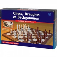 Chess, Draughts & Backgammon Set