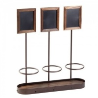 Wine Bottle Display with 3 Chalkboards
