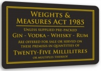 Weights & Measures Sign - 25ml
