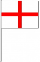 England Hand Flags - Pk of 10