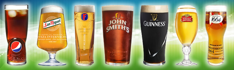 Buy official branded beer, cider, ale pint and half pint glasses. Fast UK delivery.