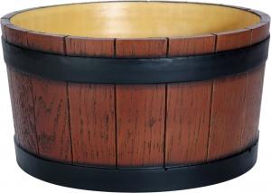 Barrel End Wood Grain Effect 11 Litre Ice Bucket for UK Pubs and Bars