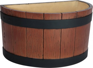 Half Barrel End Wood Grain Effect 7 Litre Ice Bucket Tub for UK Pubs and Bars