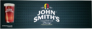 John Smiths PVC Rubber Drip Mat Bar Runner for Pubs. Fast UK Delivery.