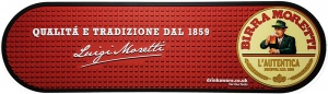 Birra Moretti PVC Rubber Drip Mat Bar Runner for Pubs. Fast UK Delivery.