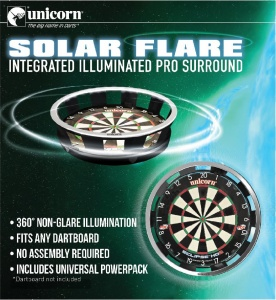 Solar Flare Illuminated Dartboard Surround
