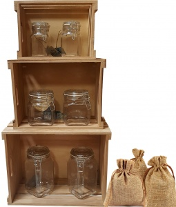 Crates and Jars Retail Display