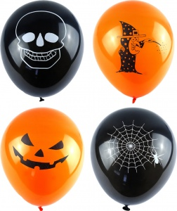 Halloween Theme Balloons (Pack of 15)