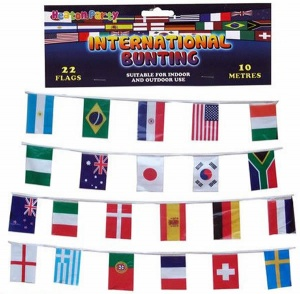 International Flag of the World Bunting - 10m