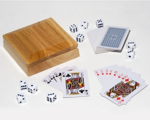 Poker Cards & Dice Gift Set