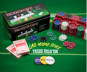 Free Texas Hold'em Poker set with this pack!