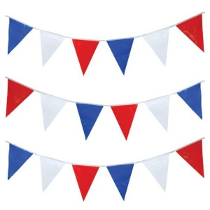 Red, White & Blue Pennant Bunting (7m)
