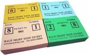 Race Event Tote Tickets