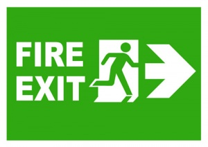 Fire Exit Right Sign
