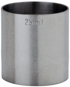 25ml Stainless Steel Thimble Measures - Spirit Measuring Cups 25ml CE Marked Next Day Delivery