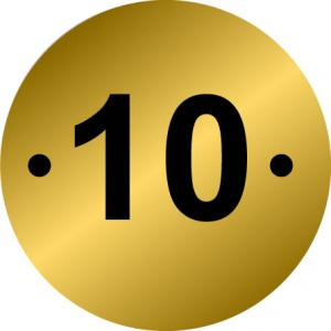 Table Number Discs - Pack of 10